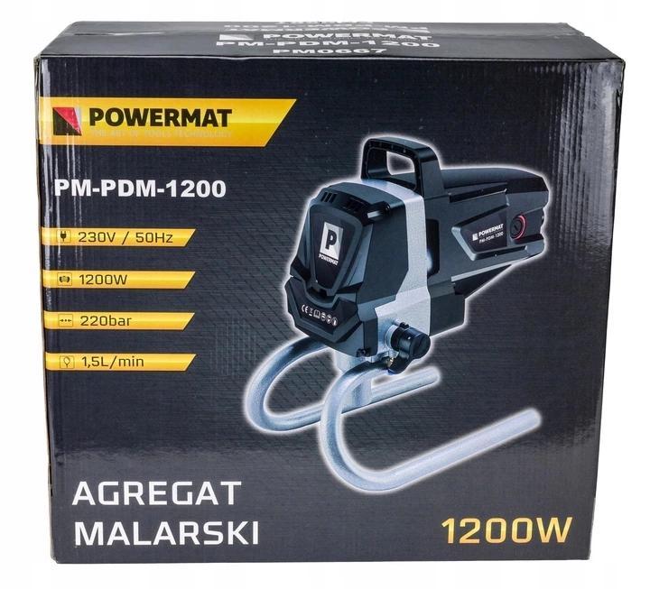 AGREGAT MALARSKI Pistolet Hydrodynamiczny PM-PDM-1200