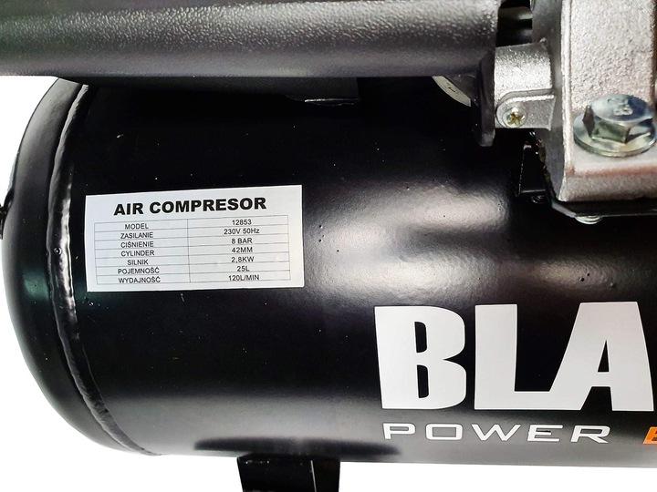 KOMPRESOR SPRĘŻARKA 25L 1500W BLACK OLEJOWY MOCNY