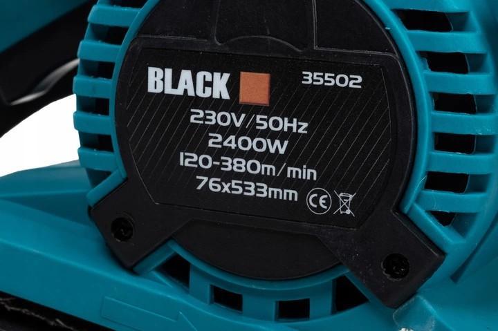 SZLIFIERKA TAŚMOWA 2400W BLACK 2 FUNKCJE 76X533