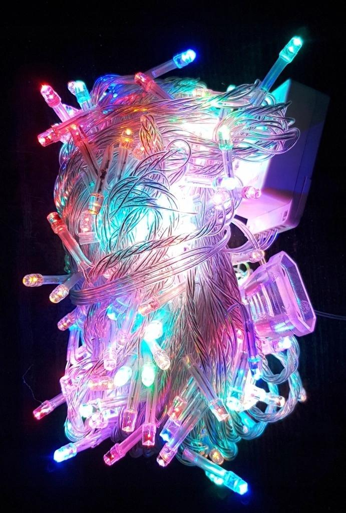 LAMPKI CHOINKOWE 300 LED SILIKON 22M
