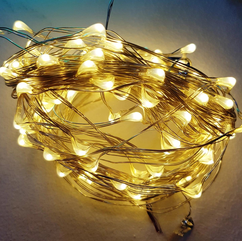 LAMPKI CHOINKOWE NA DRUCIKU 100 MICRO LED BATERIE