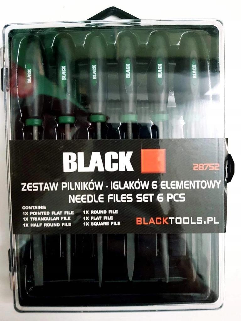 ZESTAW KOMPLET PILNIKÓW PILNIKI IGLAKI 6szt black